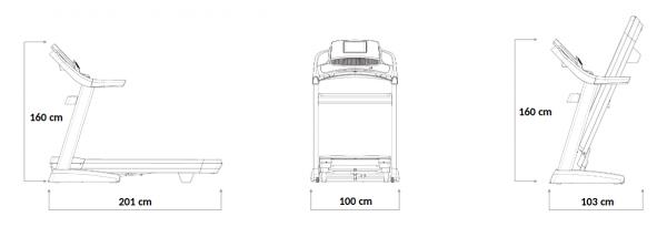 Běžecký pás Nordictrack Commercial 1750 rozměry