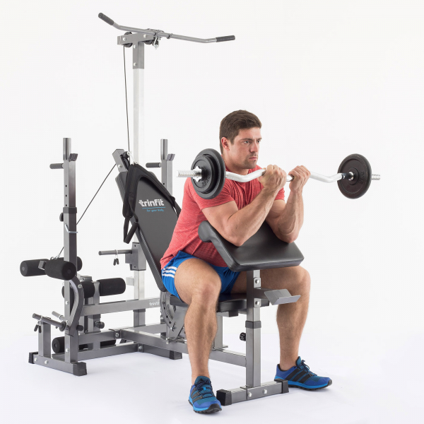 Posilovací lavice na bench press TRINFIT Bench FX5 cviky 01