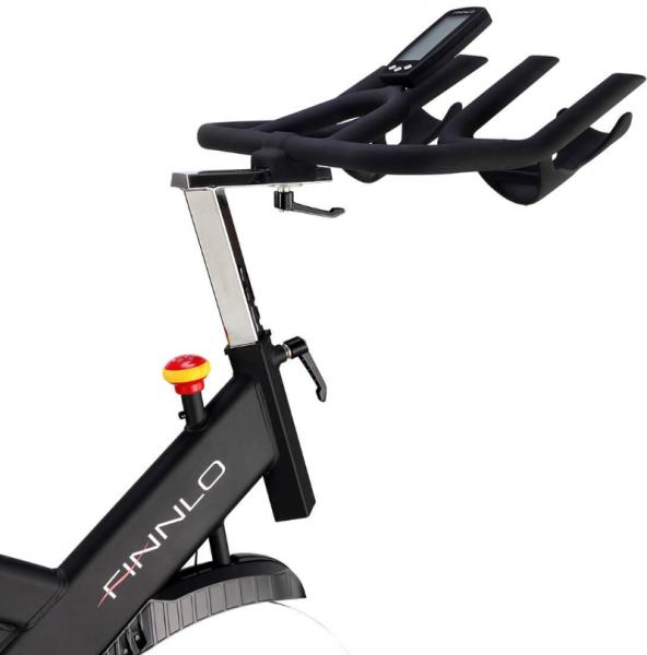 Cyklotrenažér FINNLO Speed Bike CRS III Boční detail řidítek