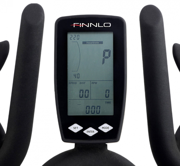 Cyklotrenažér FINNLO Speed Bike CRS III Detail počítače