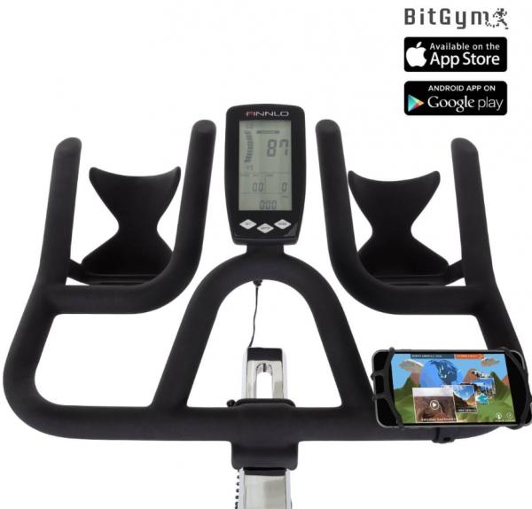 Cyklotrenažér FINNLO Speed Bike CRS III Detail řidítek