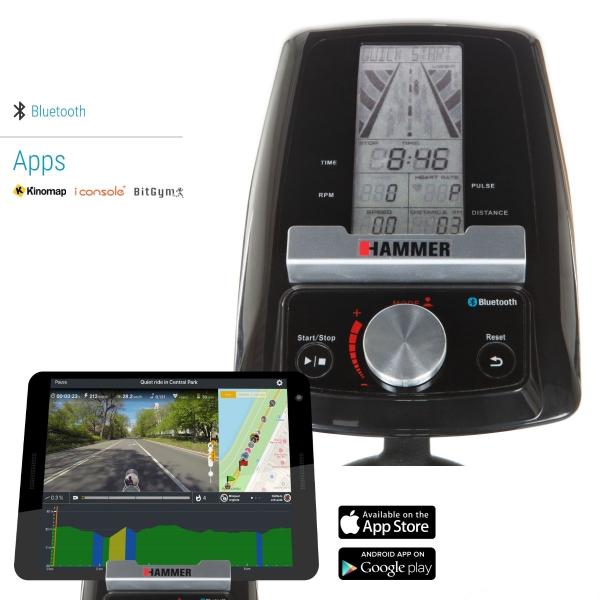 Cyklotrenažér HAMMER Speed Racer S počítač + držák na tablet