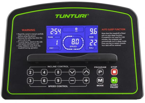 Běžecký pás Tunturi Cardio Fit T40 počítač