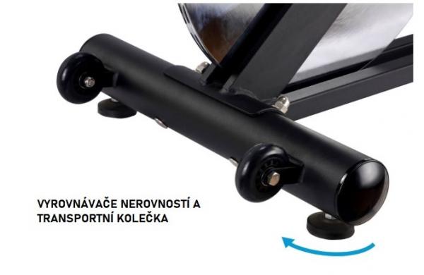 Cyklotrenažér FINNLO Speed Bike CRS III Vyrovnávače a transportní kolečka