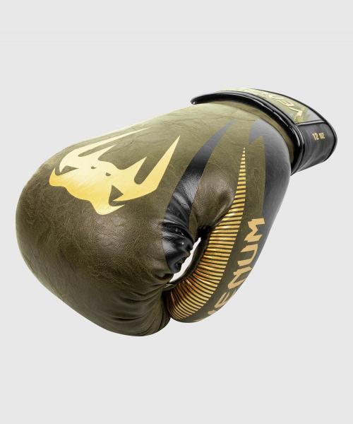 Boxerské rukavice Impact khaki zlaté VENUM single