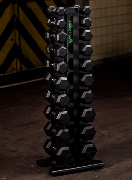 Stojan na činky TUNTURI Pro Tower promo fotka 2