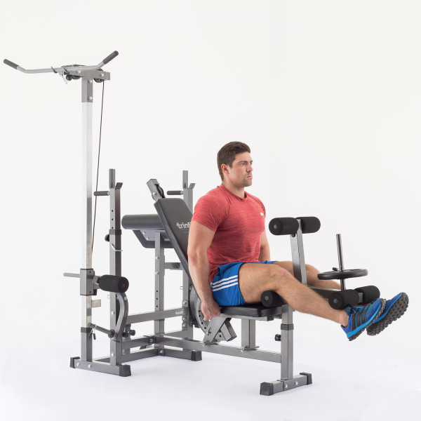 Posilovací lavice na bench press TRINFIT Bench FX5 cviky_12