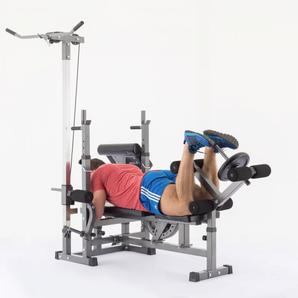 Posilovací lavice na bench press TRINFIT Bench FX5 cviky_14