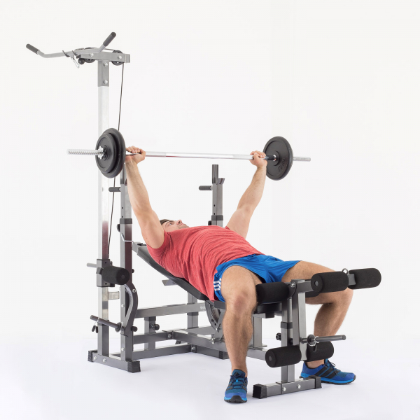 Posilovací lavice na bench press TRINFIT Bench FX5 cviky_15