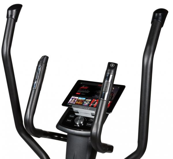 Eliptický trenažér Flow Fitness DCT2000i držák na tablet profil