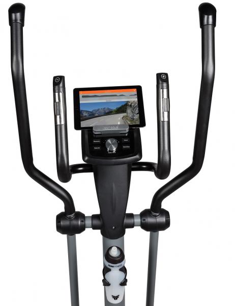Eliptický trenažér Flow Fitness DCT2000i držák na tablet