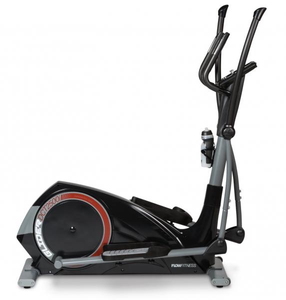 Eliptický trenažér Flow Fitness DCT2500i z boku