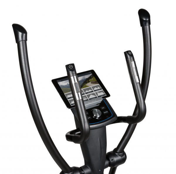 Eliptický trenažér Flow Fitness X2i držák na tablet