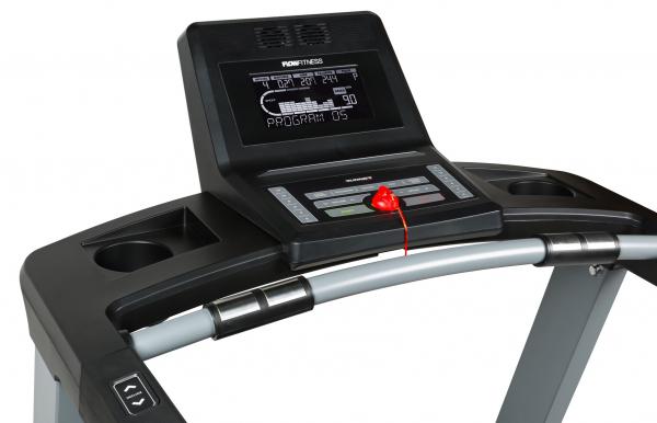 Běžecký pás Flow Fitness DTM2000i počítač z profilu