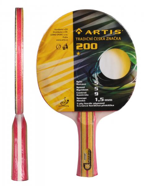 Pálka na stolní tenis ARTIS 200 detail