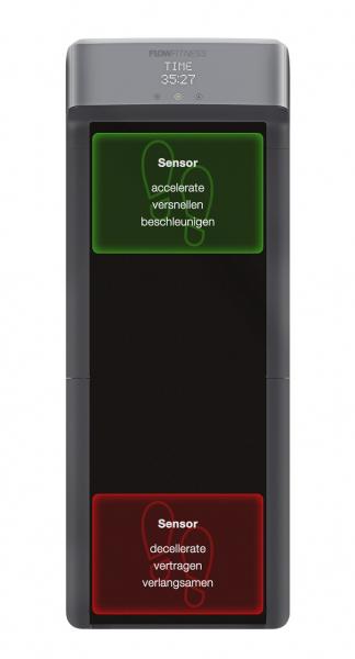 Běžecký pás Flow Fitness DTM100i pohled shora s popisky