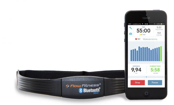 Flow Fitness Bluetooth + smartphone