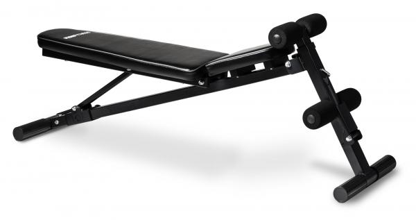 Posilovací lavice na jednoručky Posilovací lavice FLOW Fitness SMB50 horizontální poloha zádové opěrky