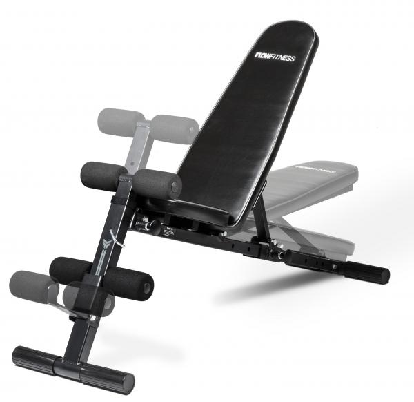 Posilovací lavice na jednoručky Posilovací lavice FLOW Fitness SMB50 z profilu - možnost polohování