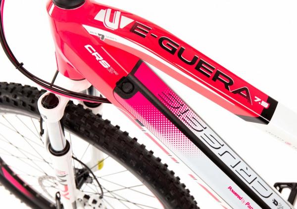 CRUSSIS e-Guera 7.5-S 17,5 Ah 19 růžovo-bílá 2020 baterie