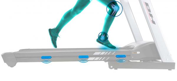 Běžecký pás BH Fitness F8 DUAL odpružení běžecké plochy