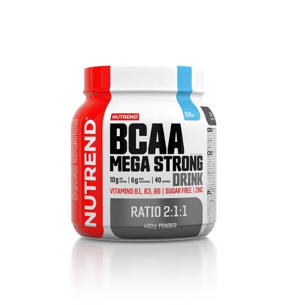NUTREND BCAA Mega Strong Drink 400 g modrá malina