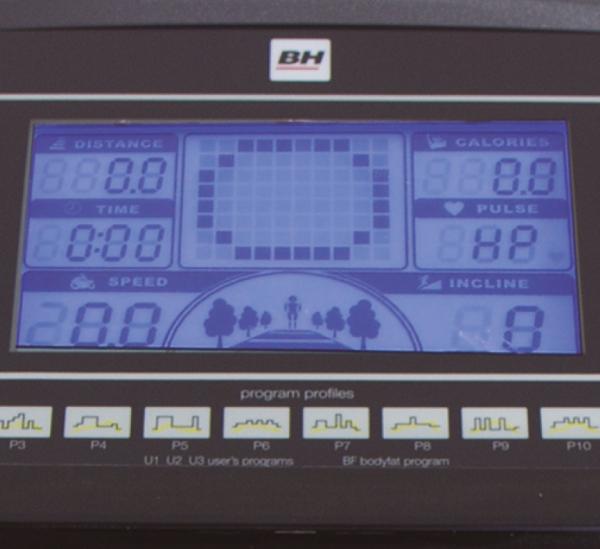 Běžecký pás BH Fitness Pioneer R9 displej