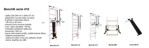 BenchK serie B4 s doplňky