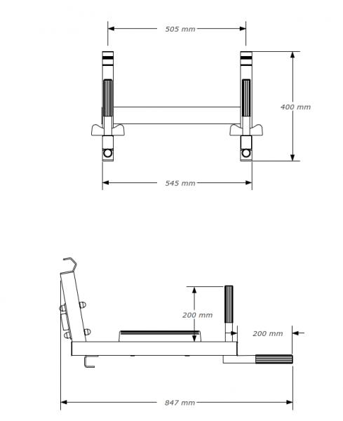 Závěsná bradla BenchK DB4 rozměry
