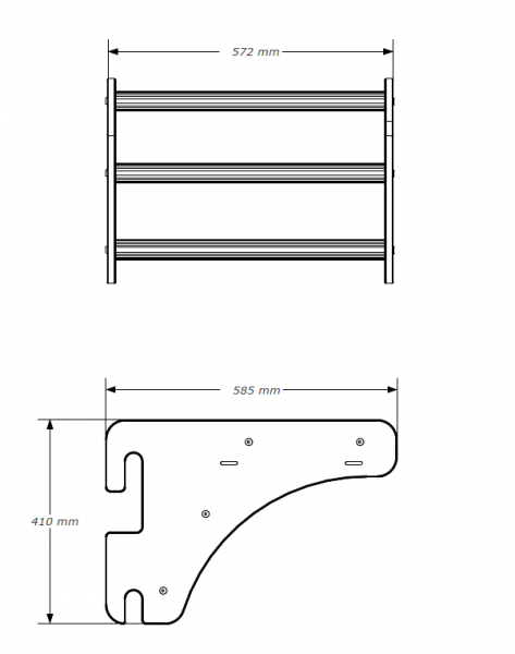 Závěsná hrazda dřevěná BenchK PB23 rozměry