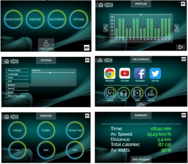 Eliptický trenažér BH FITNESS CRYSTAL 2.0 TFT Technologie Touch&Fun