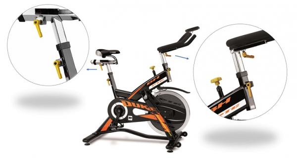 Cyklotrenažér BH FITNESS Duke Electronic nastavení sedla a řidítek