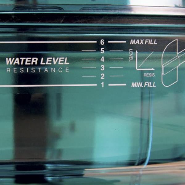Veslovací trenažér BH Fitness CARDIFF voda detail