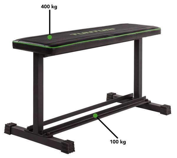 Posilovací lavice na jednoručky TUNTURI FB20 Flat Bench nosnost