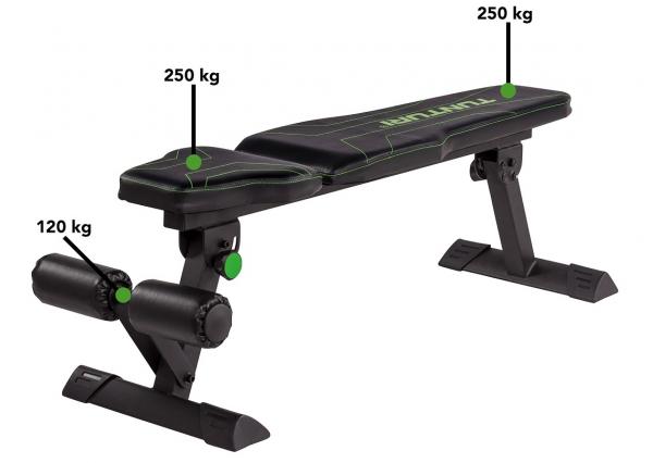 Posilovací lavice na břicho TUNTURI FB80 Flat Bench nosnost
