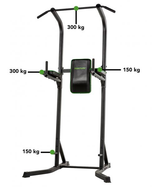 Posilovací stroj na břicho Tunturi Power Tower PT40 nosnost