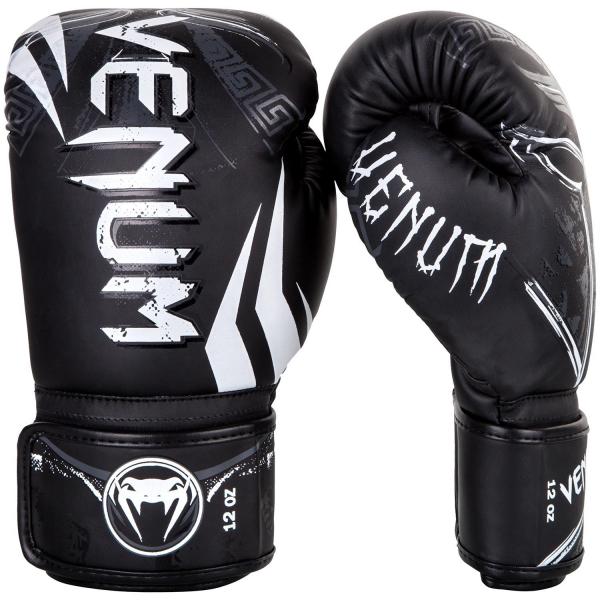 Boxerské rukavice Gladiator 3.0 černé bílé VENUM side