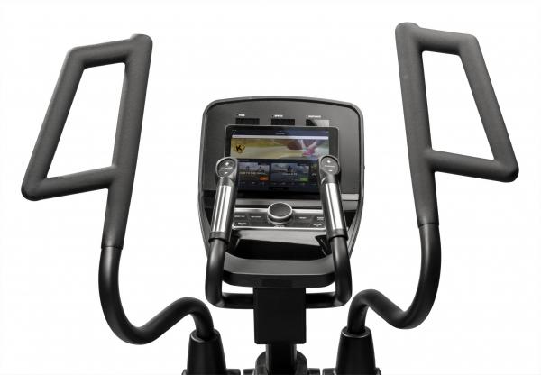 Eliptický trenažér Flow Fitness CF5i Pro Line držák na tablet,smartphone