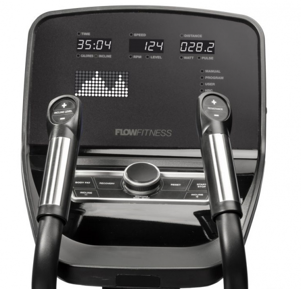 Eliptický trenažér Flow Fitness CF5i Pro Line počítač