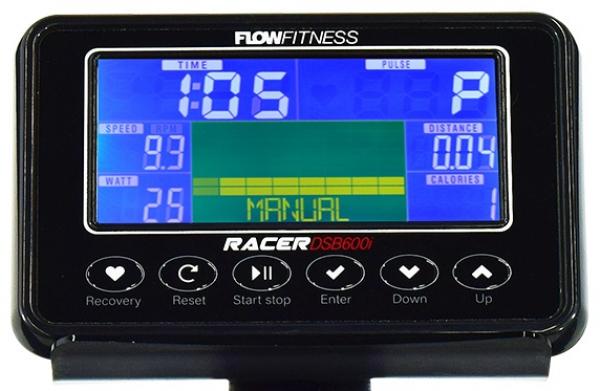 Cyklotrenažér Flow Fitness DSB600i počítač