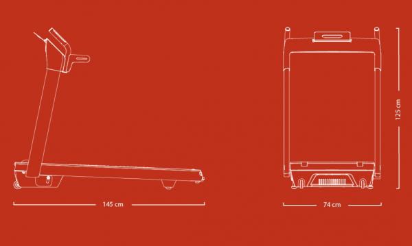 Běžecký pás FLOW Fitness DTM400i rozměry