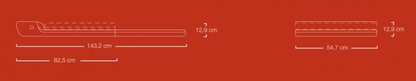 Běžecký pás Flow Fitness DTM100i rozměry