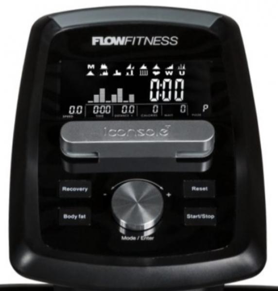 Eliptický trenažér Flow Fitness DCT2000i počítač