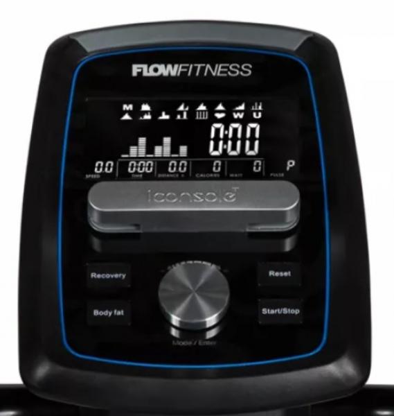 Eliptický trenažér Flow Fitness X2i počítač_