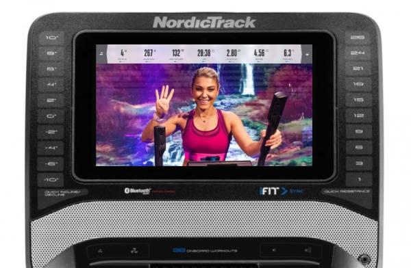Eliptický trenažér NordicTrack FreeStride Trainer FS9i počítač