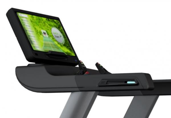 Běžecký pás BH FITNESS MOVEMIA TR1000 SmartFocus počítač z profilu