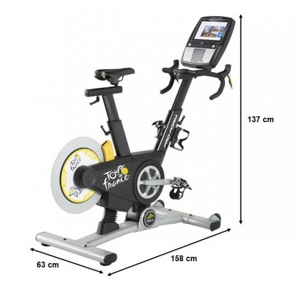 Cyklotrenažér PROFORM TDF 10.0 rozměry