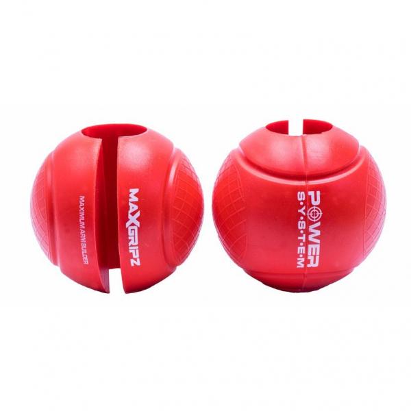 Gripy na posilovací tyč Globe Gripz POWER SYSTEM červené