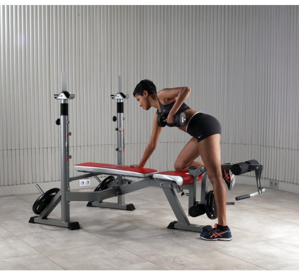 Posilovací lavice na bench press BH Fitness Optima Press Bench G330_cvik žena