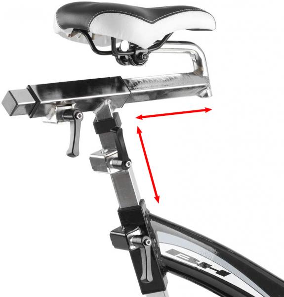 Cyklotrenažér BH Fitness SB2,8 Aero sedlo